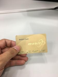 モビットカード券面